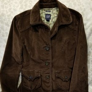 GAP stretch brown corduroy jacket